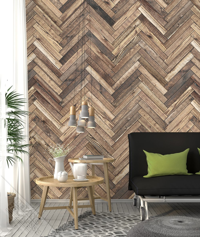 Colorchoc New Materials fotobehang 7054 planken visgraat