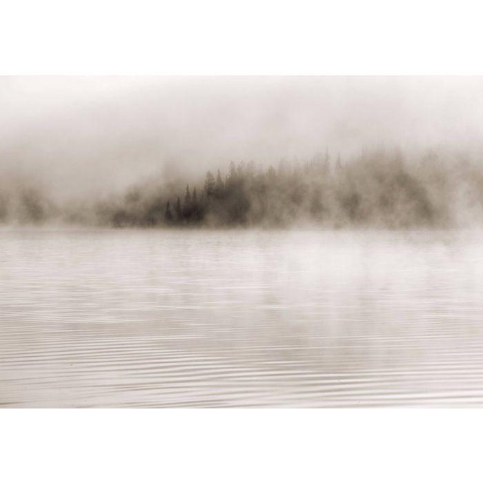 Fotobehang Nevel op het Water Sepia