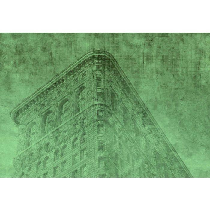 Fotobehang New York City Groen
