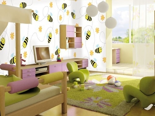 Little Ones fotobehang 416045 Free Bee