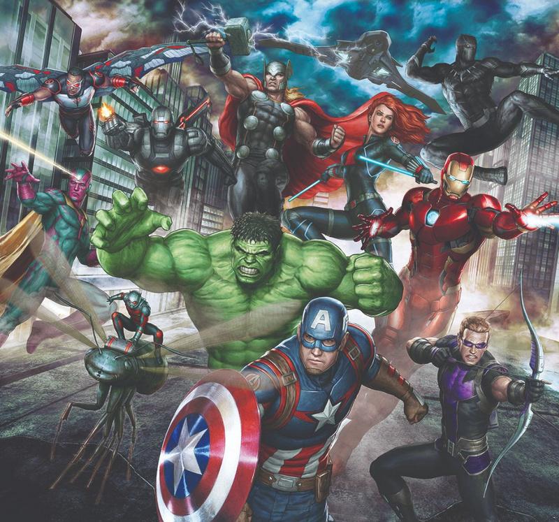 Kids@home fotobehang 111391 Marvel Avengers Assemble Wall Mural