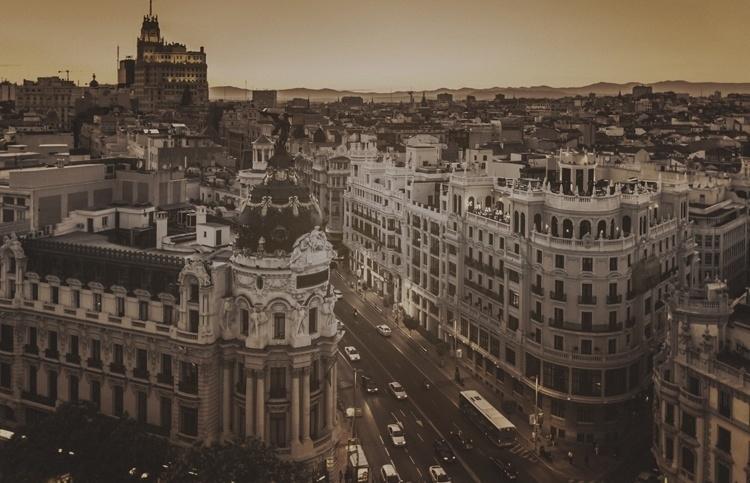Fotobehang City Love CL15C Madrid