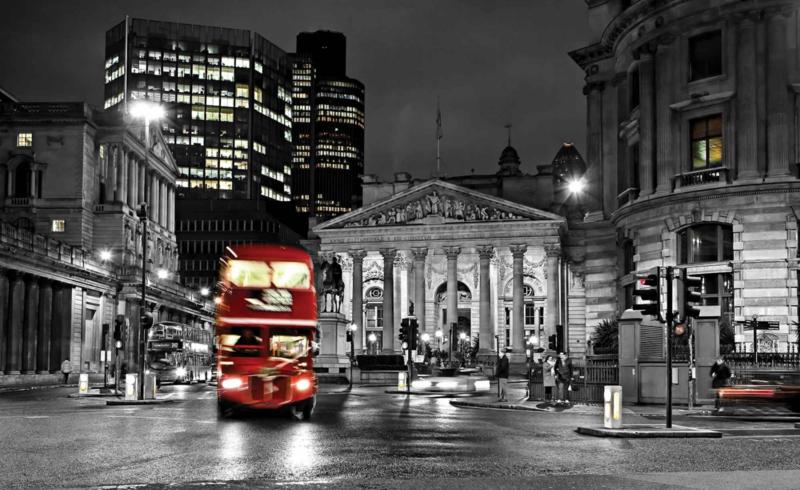 Fotobehang City London Red Bus
