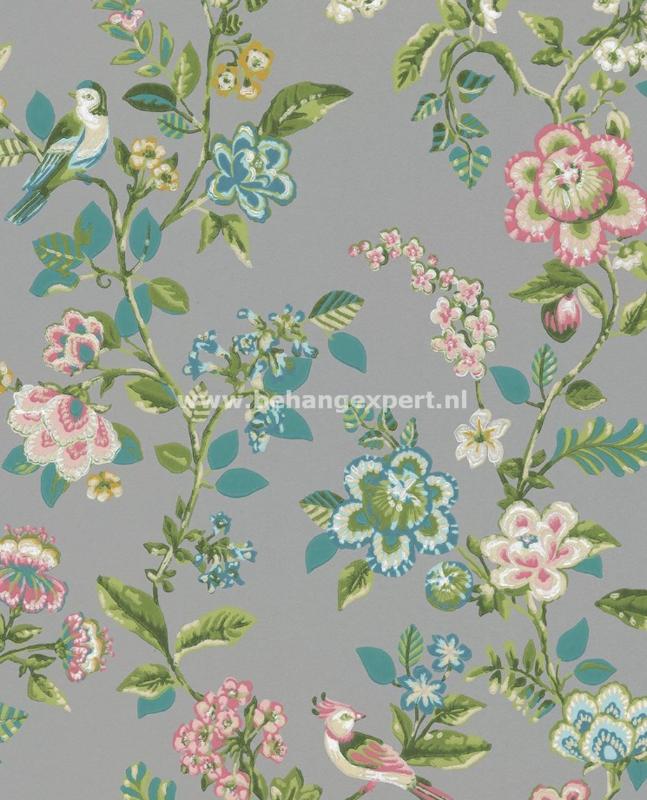 Eijffinger PiP Studio behang 375065 Botanical Print Grijs