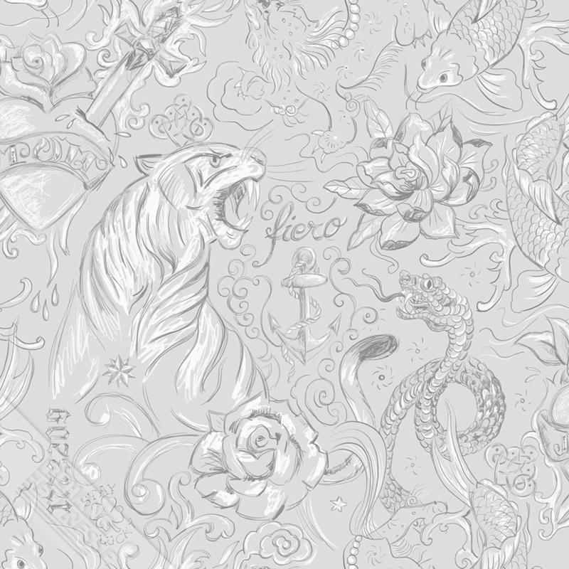 Behangexpresse Thomas - 27154 tijger en slangen