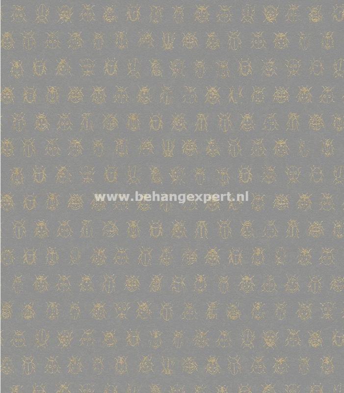 Eijffinger PiP Studio behang 375037 Lady Bug Grijs