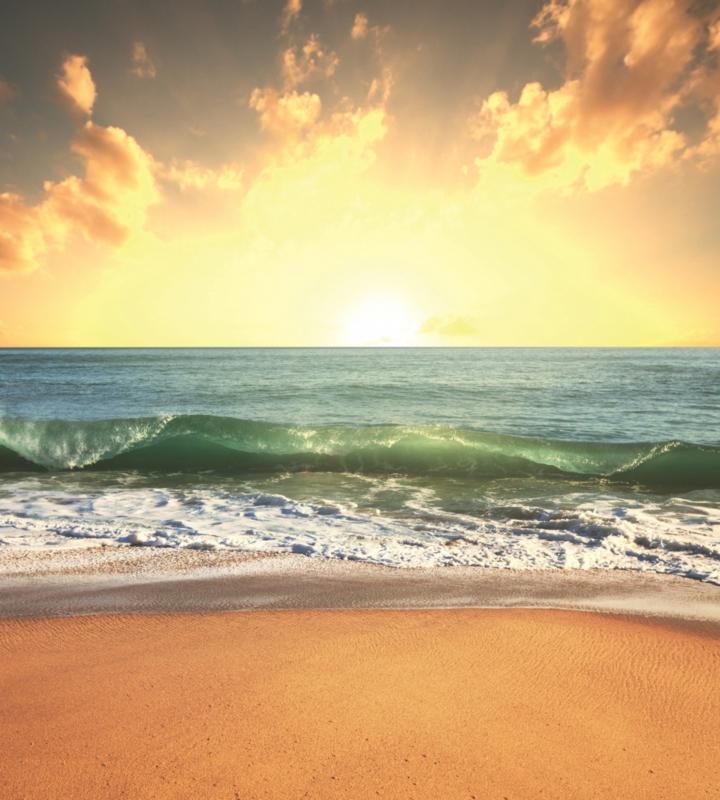 Fotobehang Zee zonsondergang