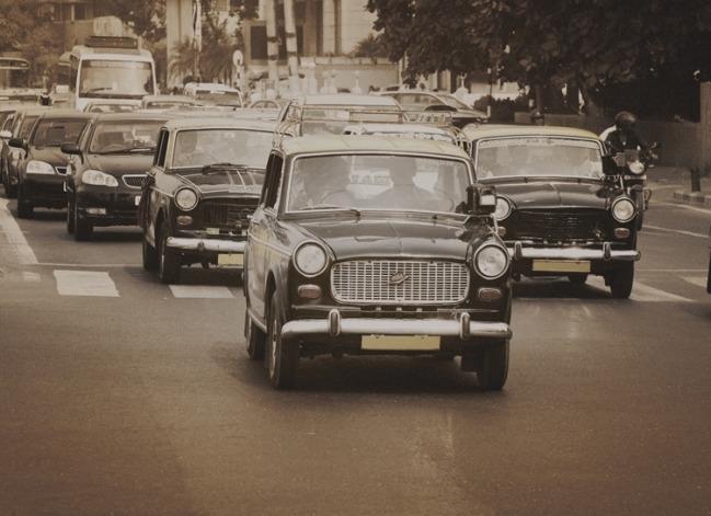 Fotobehang City Love CL73C Mumbai taxi