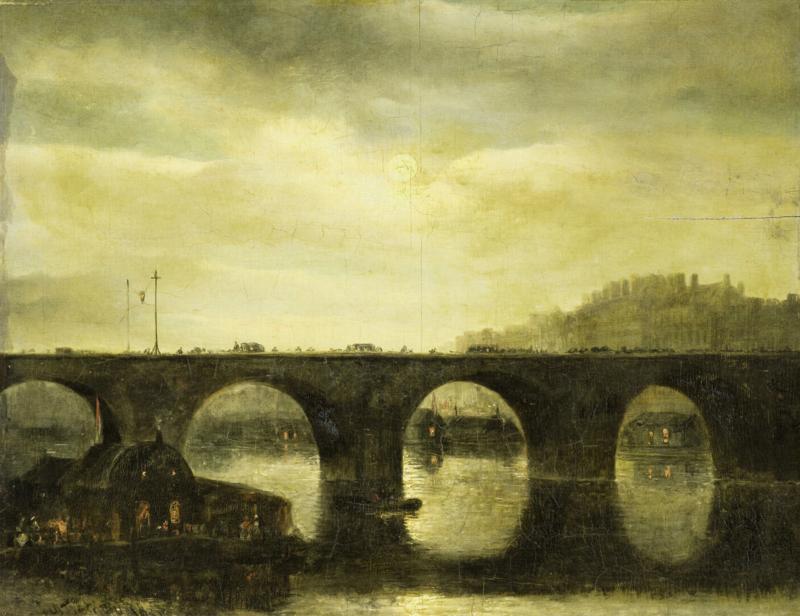Dutch Painted Memories 8060 Bridge over the seine