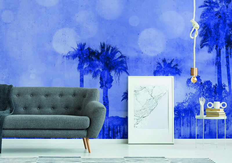 Fotowand Palm oasis 2 by Andrea Haase afm. 400cm x 270cm hoog