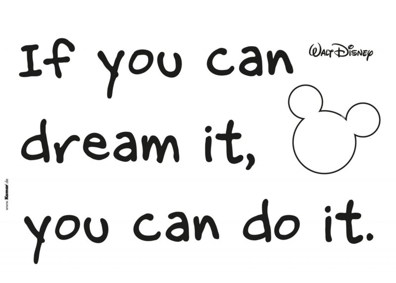 Wandsticker Disney You Can Do It 14002