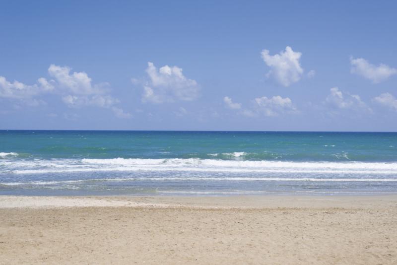 Fotobehang Leeg strand