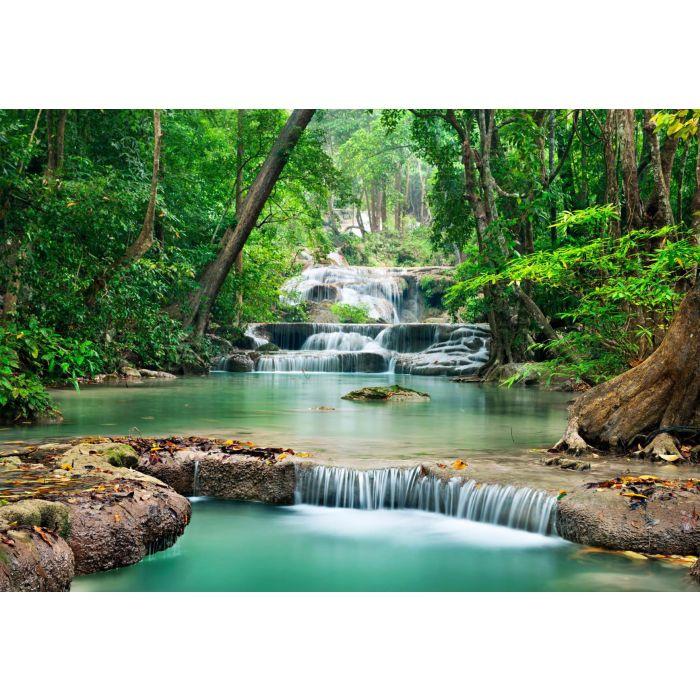 Fotobehang Turquoise Falls