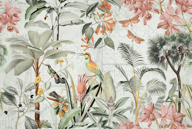 Fotowand Tropical paradise 2 by Andrea Haase afm. 400cm x 270cm hoog