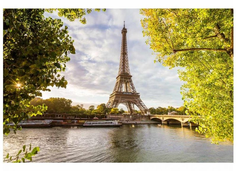 Fotobehang Eiffeltoren vanaf de Seine