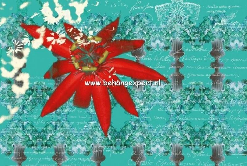 Fotobehang AP Digital 470010 Floral Red