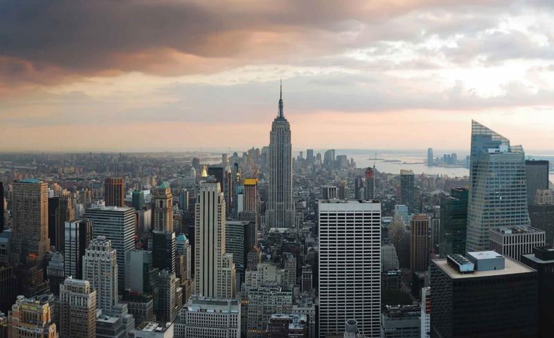 Fotobehang New York Skyline en Empire State Building