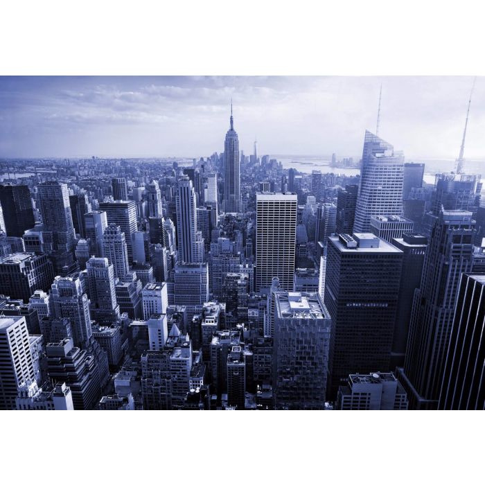 Fotobehang Empire State View in Blue