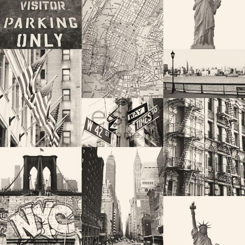 Behang Esta Denim & Co 137718 Streetview New York