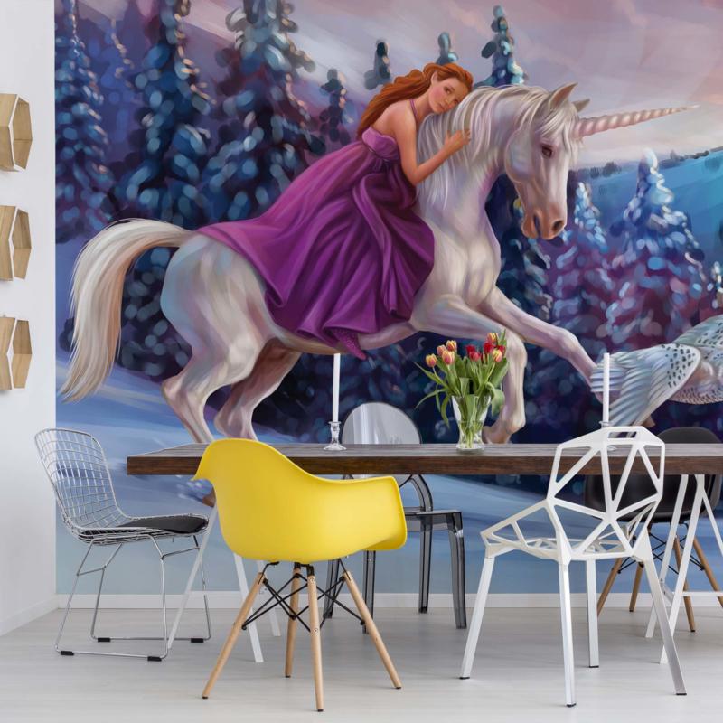 Fotobehang Princess Unicorn