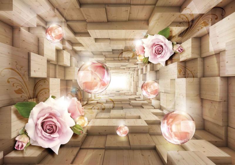 Fotobehang Abstract roses