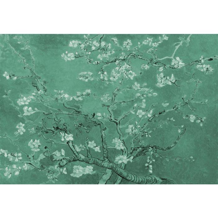 Fotobehang Vincent van Gogh Amandelbloesem in Groen