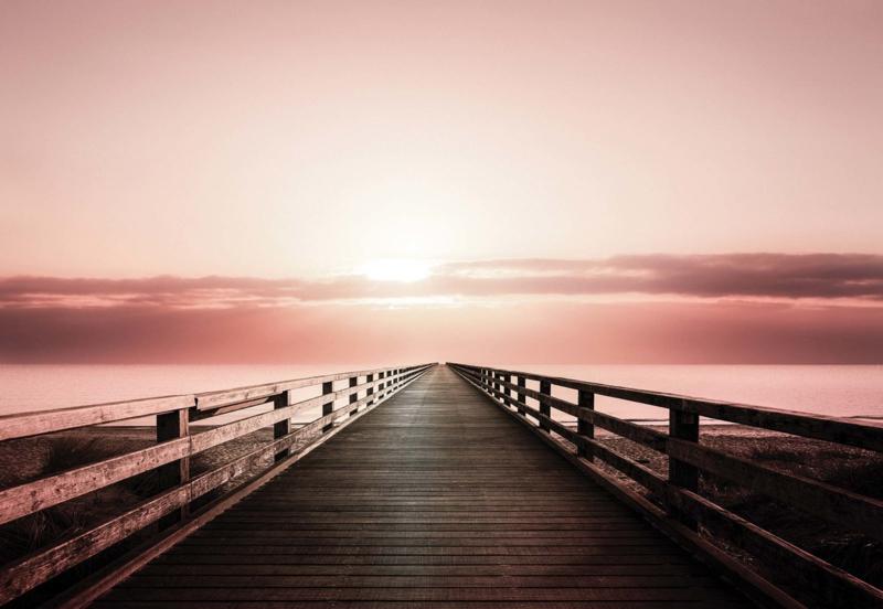 Fotobehang Sepia Ocean Pier