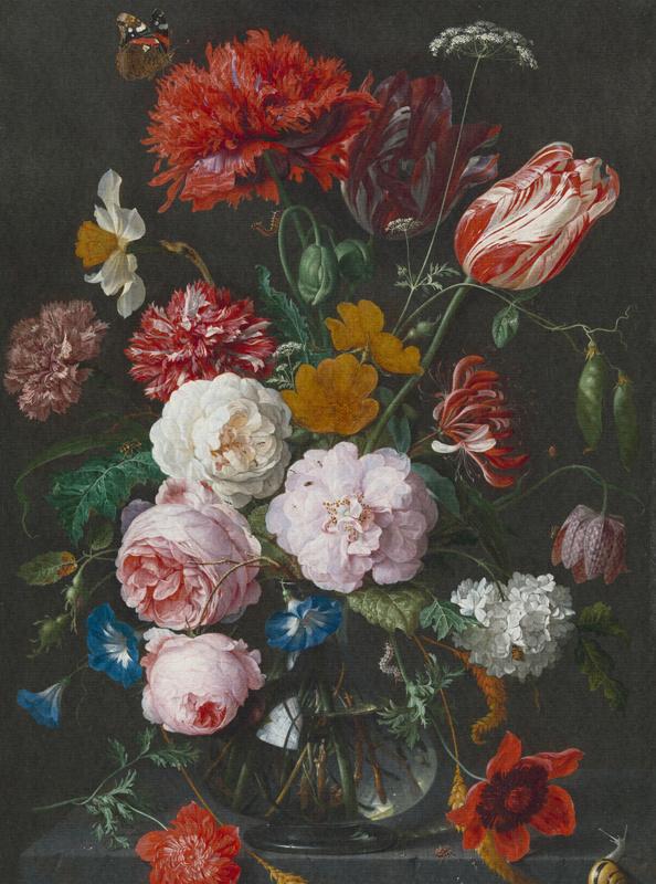 Dutch Painted Memories 8018 Flowers in a glass vase Jan Davidsz. de Heem