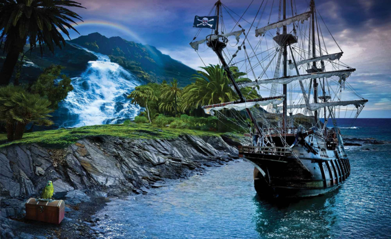 Fotobehang Piratenschip