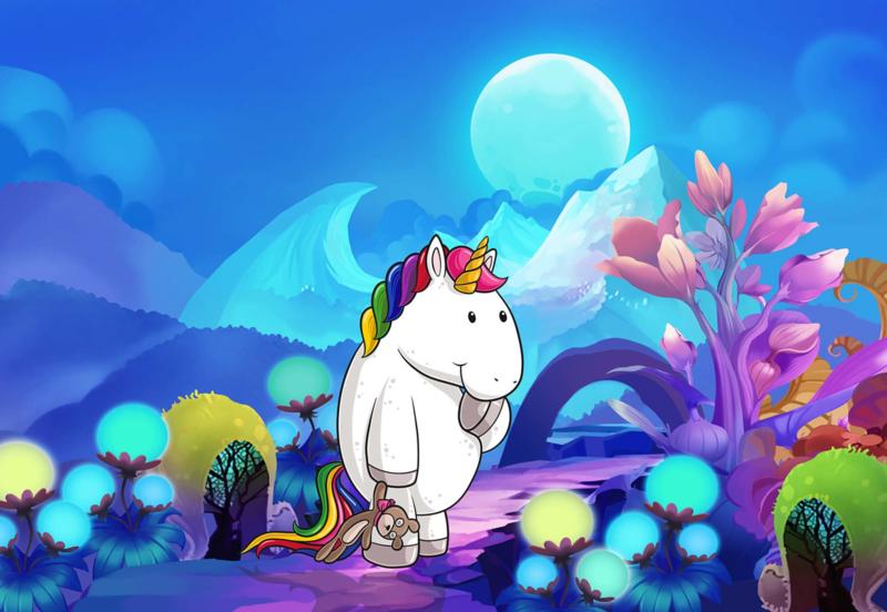 Fotobehang Unicorn