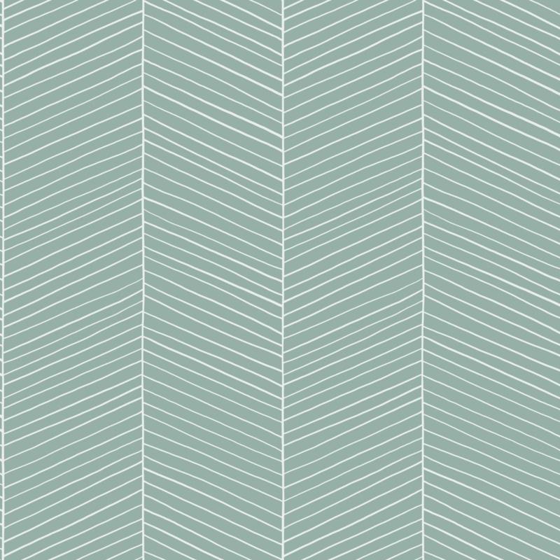 Uitgelezene Behang Esta home - Scandi Cool 139108 visgraat | Groen behang IP-48