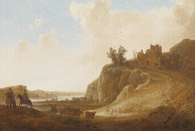 Dutch Painted Memories 8025 Castle ruins Aelbert Cuyp