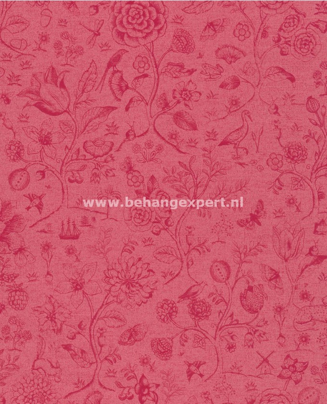 Eijffinger PiP Studio behang 375013 Spring to Life Two Tone Rood Roze