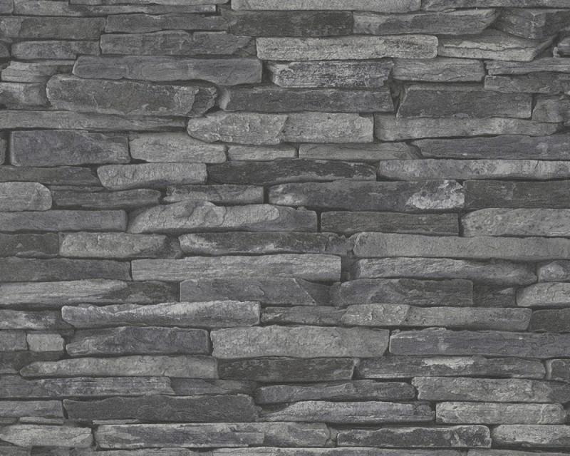 AS Creation Wood `n Stone 9142-24 Leisteen behang