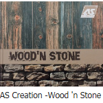 behang as creation wood and stone