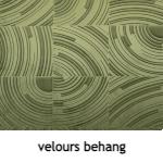 velours behang