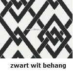 zwart - wit behang