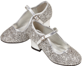 Prinsessen Schoenen Zilver Glitter Frozen + gratis armband