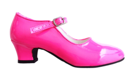 Prinsessen Schoenen Fluor Roze - koopjeshoek - mt 35