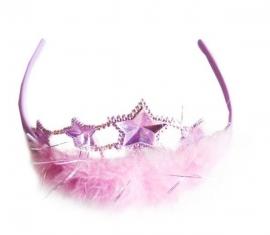 Prinsessen Kroontje Roze Veer