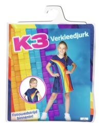 NIEUWE K3 jurkje Regenboog blauw + gratis haarband