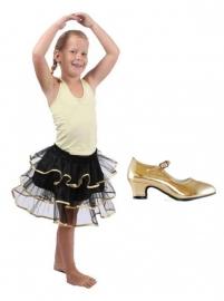 Balletrokje Tutu | zwart goud PAKKET