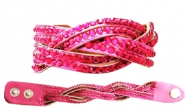 Glitter Armband Roze