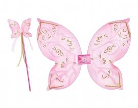 Vlinder Vleugels Set Roze Goud