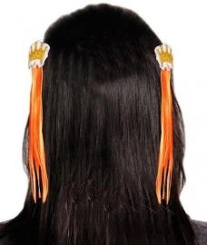 Haarclip Kroontje Oranje