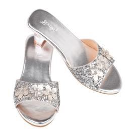 Prinsessen schoentjes Slipper Mariona Zilver