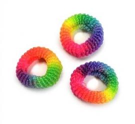 Regenboog haarelastiekjes