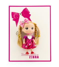 Zebra Popje Doll groot tashanger