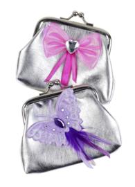 Aliette Knip portemonneetje zilver prinses