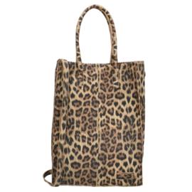Zebra Tas Schoudertas Natural Bag Rosa XL - luipaard suede